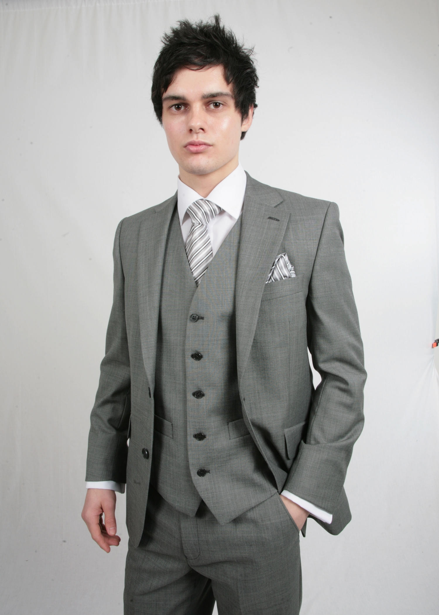 Silver Grey Scott 3 Piece Suit Hire - Tom Murphy's Formal and Menswear