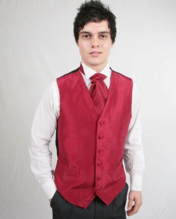 Red Poly Waistcoat
