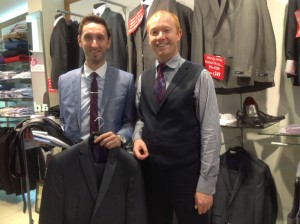 Mark Dapper Dineen getting Suit Factor prize