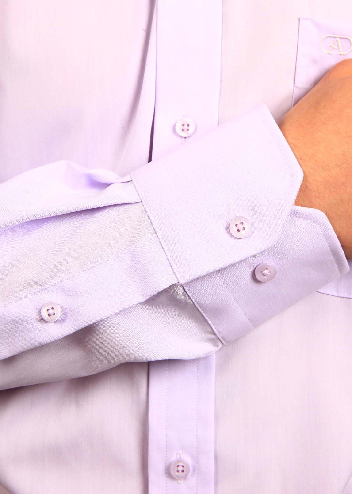 A 300 Lilac Poplin Shirt
