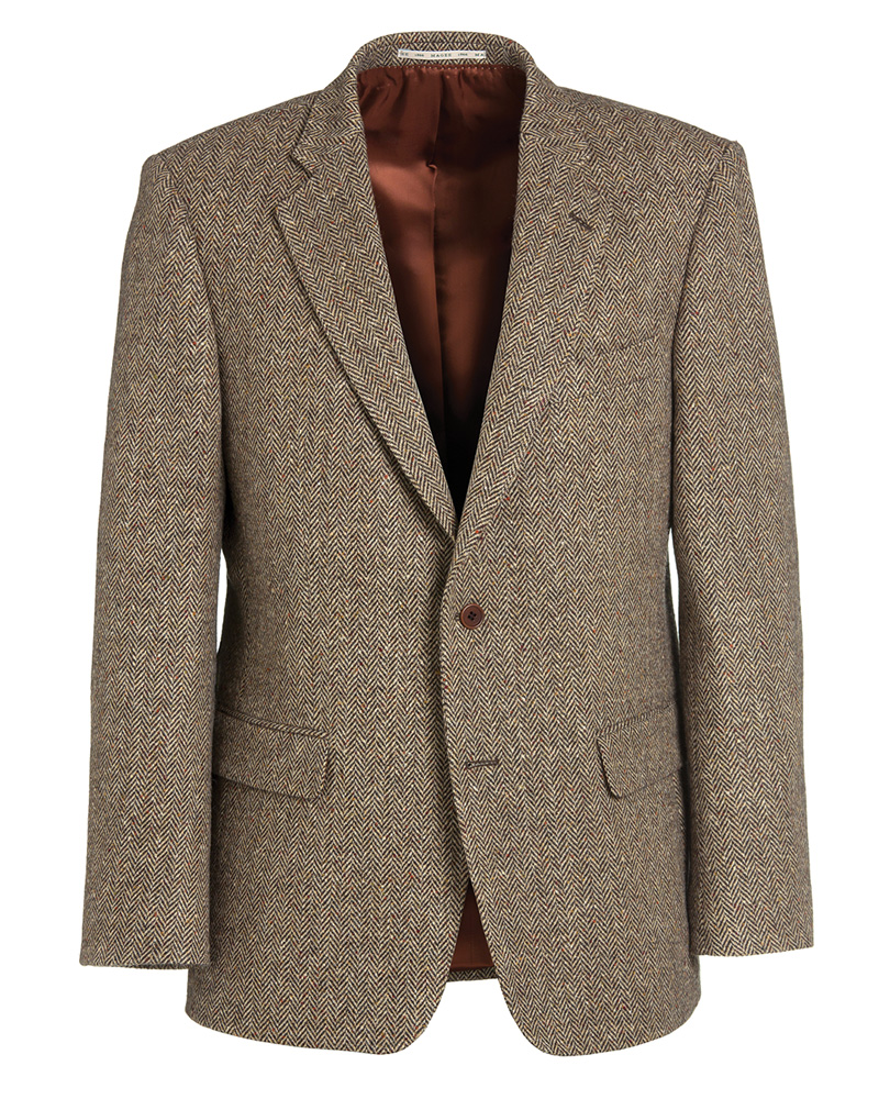 Beige Tweed Herringbone Jacket