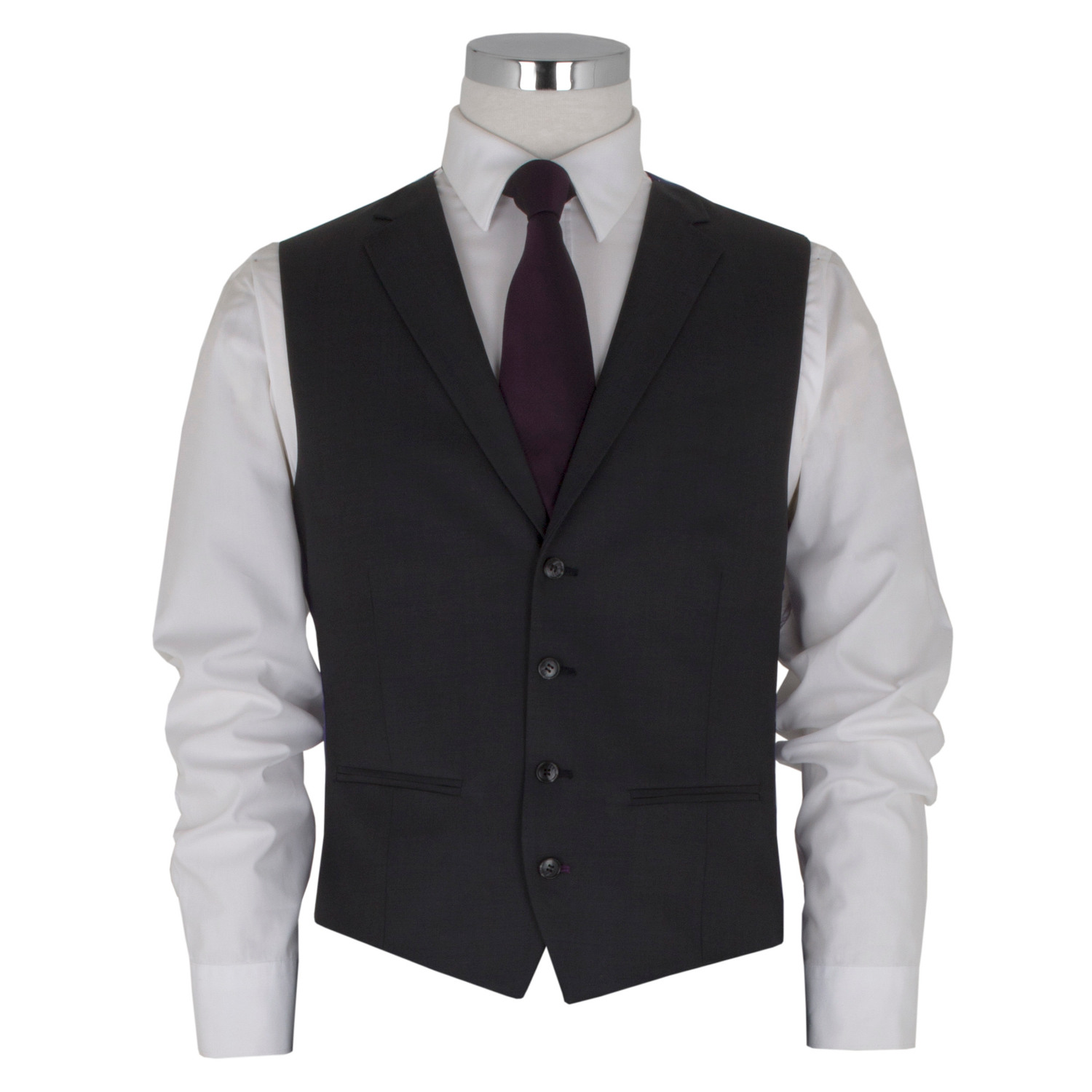 Charcoal Tailored 3 Piece Suit to Hire