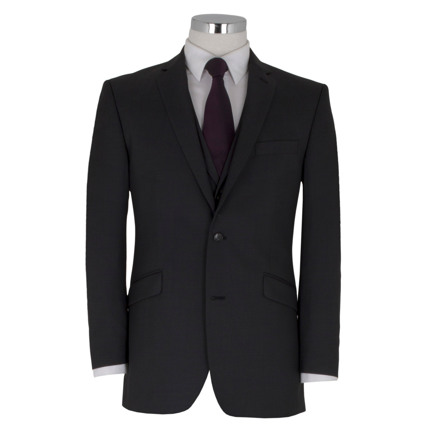 Charcoal Wool 3 Piece Suit