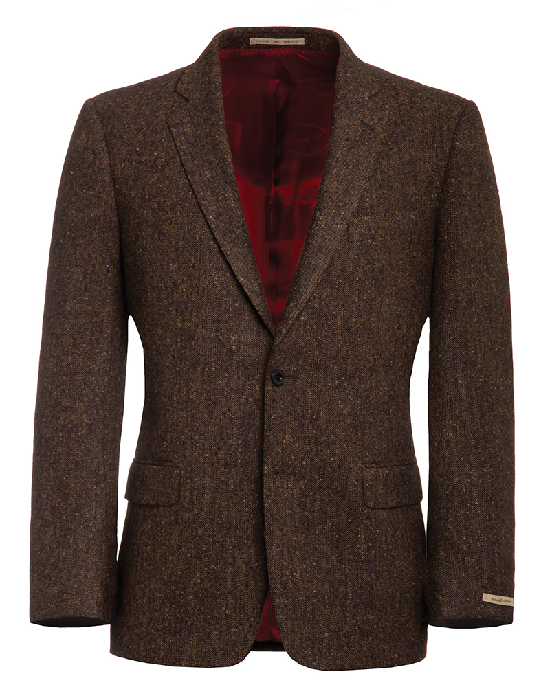 Dark Brown Tweed Fleck