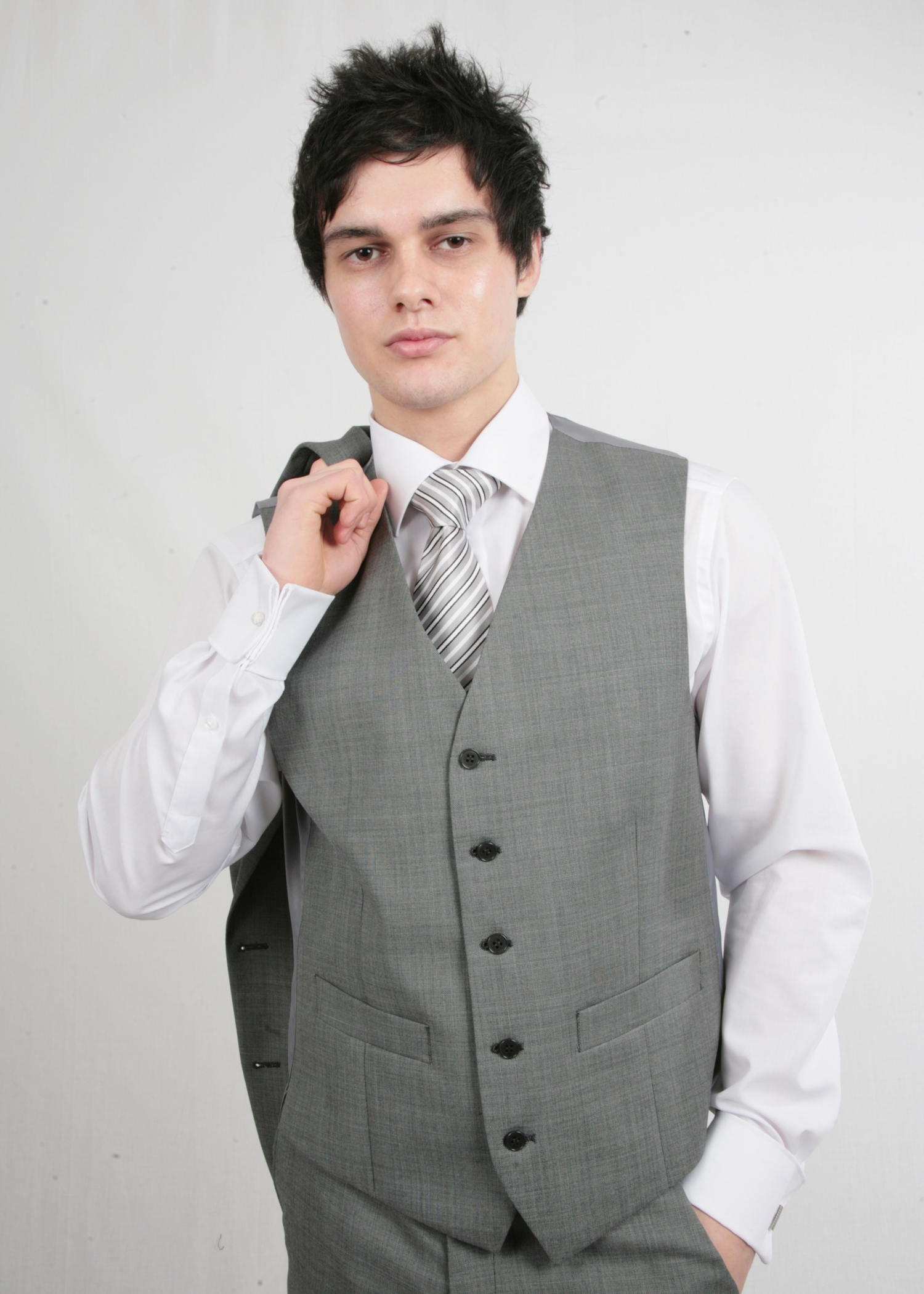 Grey Silver Waistcoat
