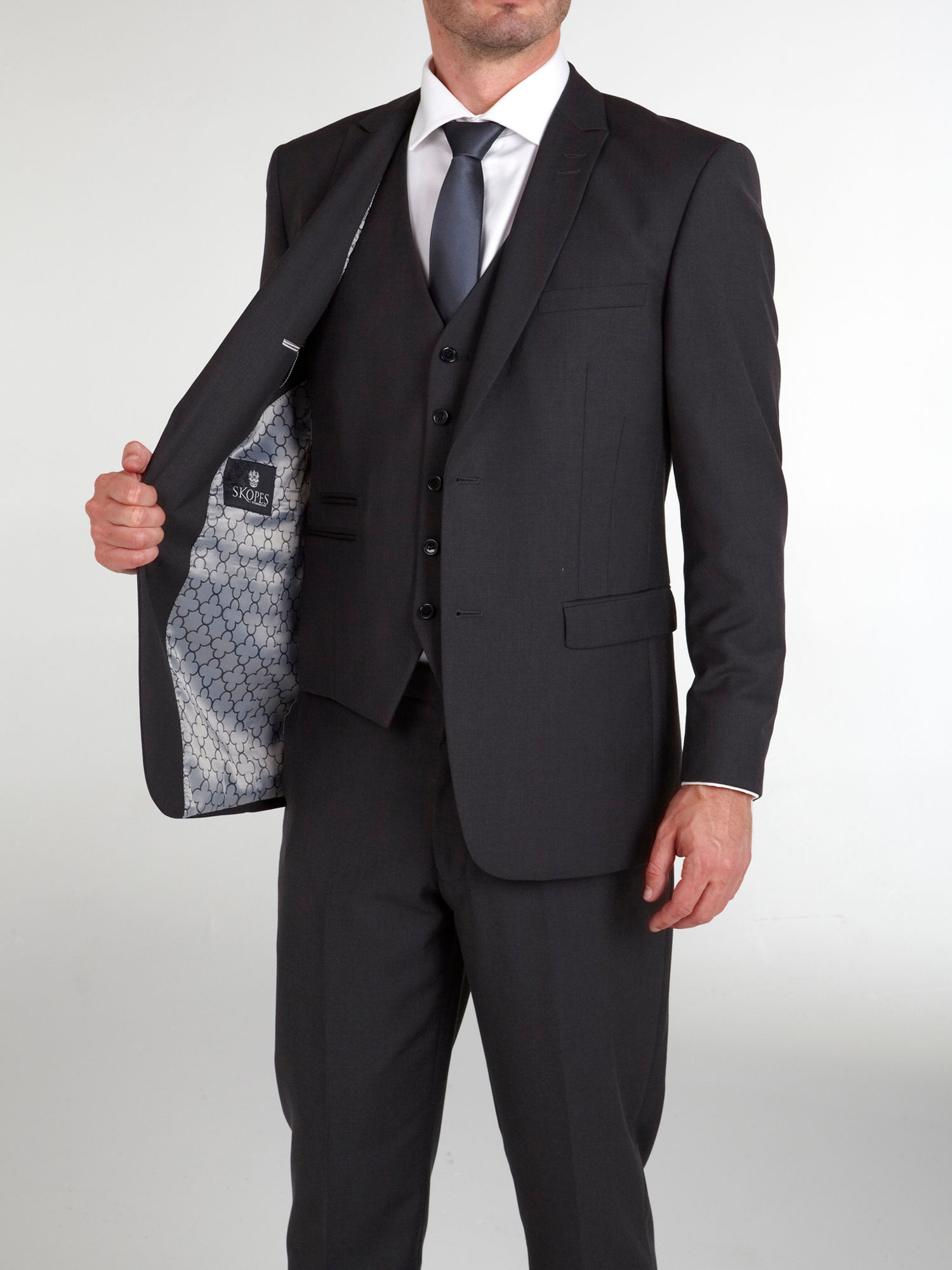 Madrid Charcoal 3 Piece Suit - Tom Murphy's Formal and Menswear