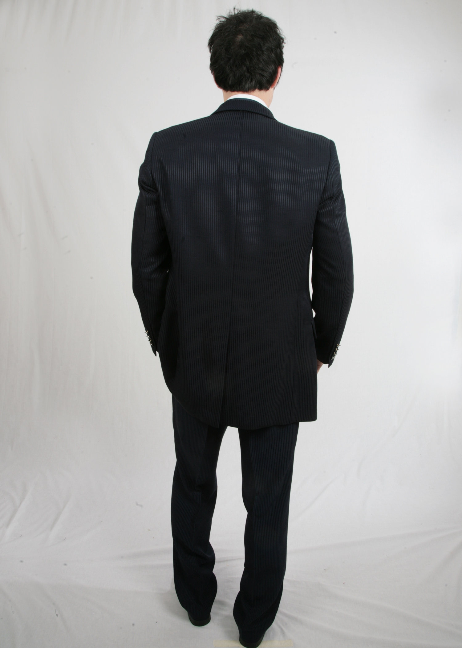 Navy Masterhand Stripe Suit to Hire