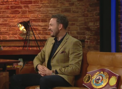 Andy Lee ,champion boxer wearing Gibson London Check Jacket