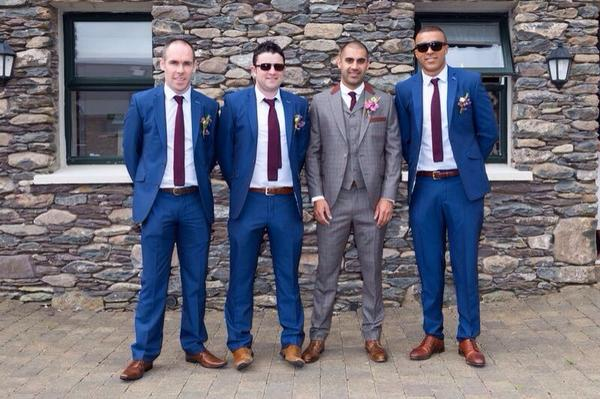 Darryl brother in law of Simon Zebo wearing one of our vintage suits
