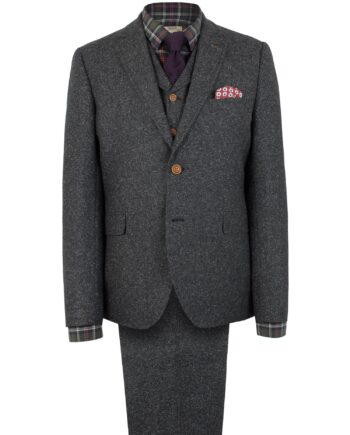 Charcoal Donegal Tweed Suit
