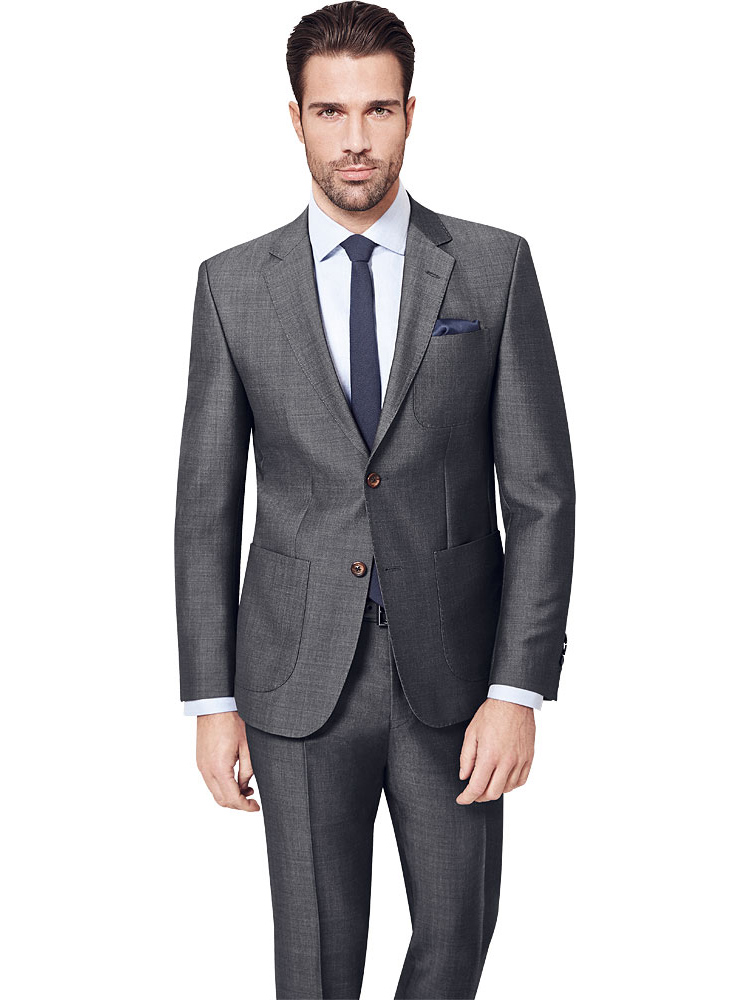 Zegna Grey Suit With Patch Pockets