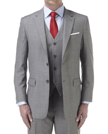 Palmer Suit Silver 3 Piece Wedding Suit