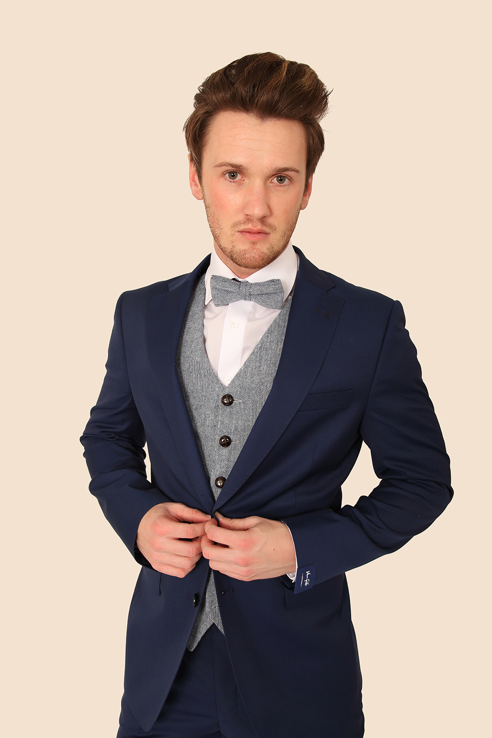 Royal Blue Suit with powder contrast waistcoat - Tom Murphy's ...