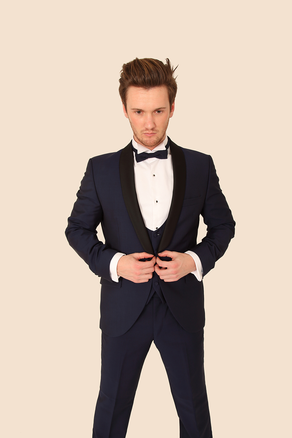 Midnight Blue 3 Piece Tuxedo - Tom Murphy's Formal and Menswear