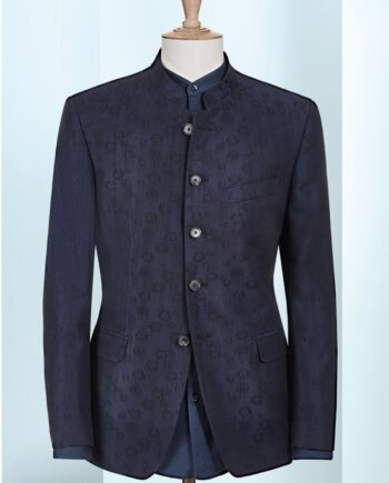 Blue Floral Pattern, 6 button, 2 piece suit
