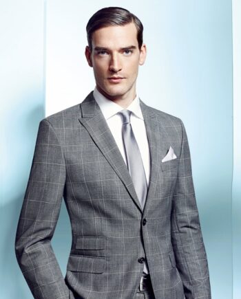 Light Grey window-pane check suit