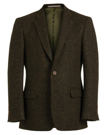 Gold Fleck Dark Brown Tweed Jacket 51831 Tom Murphy Menswear