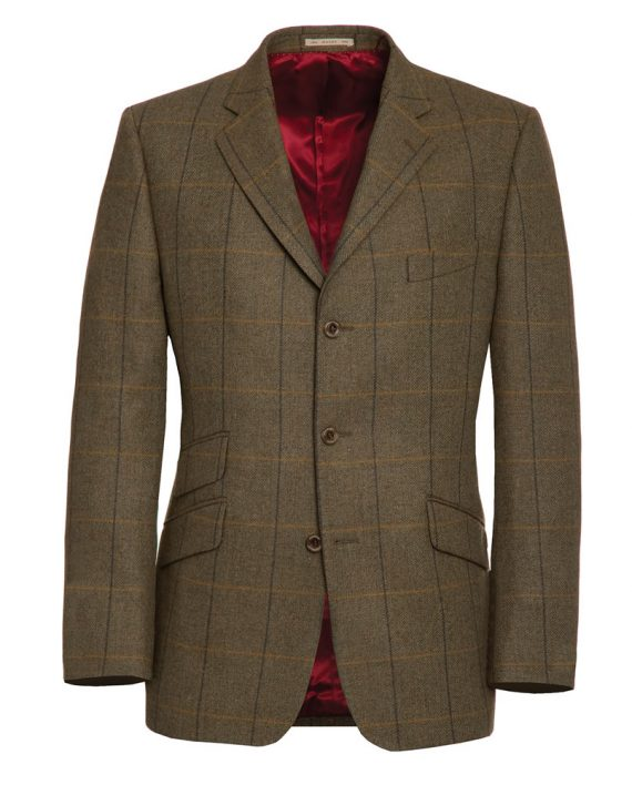 Brown with Black Check Jacket 52670-tom-murphy-menswear