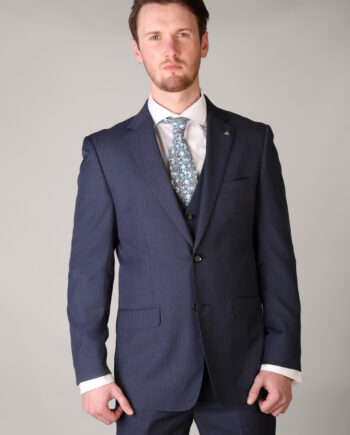 Blue Three Piece Suit