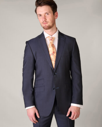 Blue Grey 2 piece suit