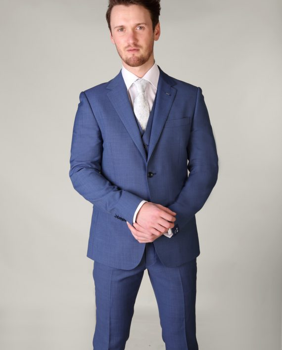 Van Gils Electric Blue 3 Piece Suit - Tom Murphy's Formal and Menswear