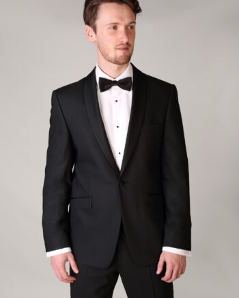Super 120 Pure New Wool Black Tuxedo