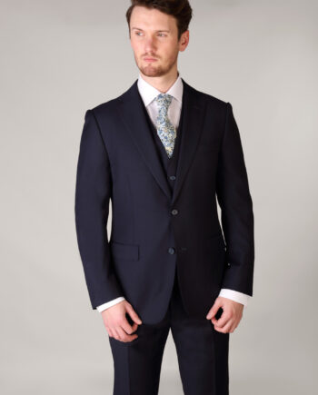 Van Gils Navy Wool Mix Suit