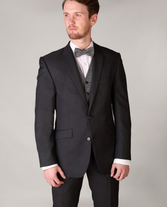 Charcoal Grey Gibson 3 Piece Suit