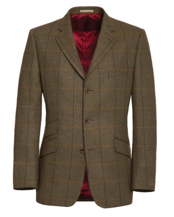 Blue and Yellow Country Check Tweed Blazer