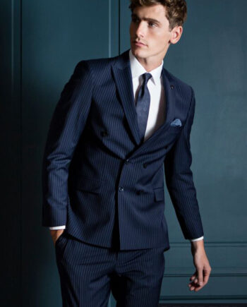 Martelli Navy 3 Piece Suit by Benetti