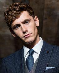 Stephen Navy Pin Stripe Suit by Benetti