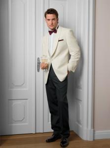 Cream shawl Tuxedo Jacket