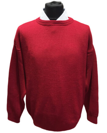 Red Chunky Wool Jumper