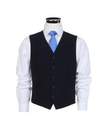 Navy Stripe Waistcoat