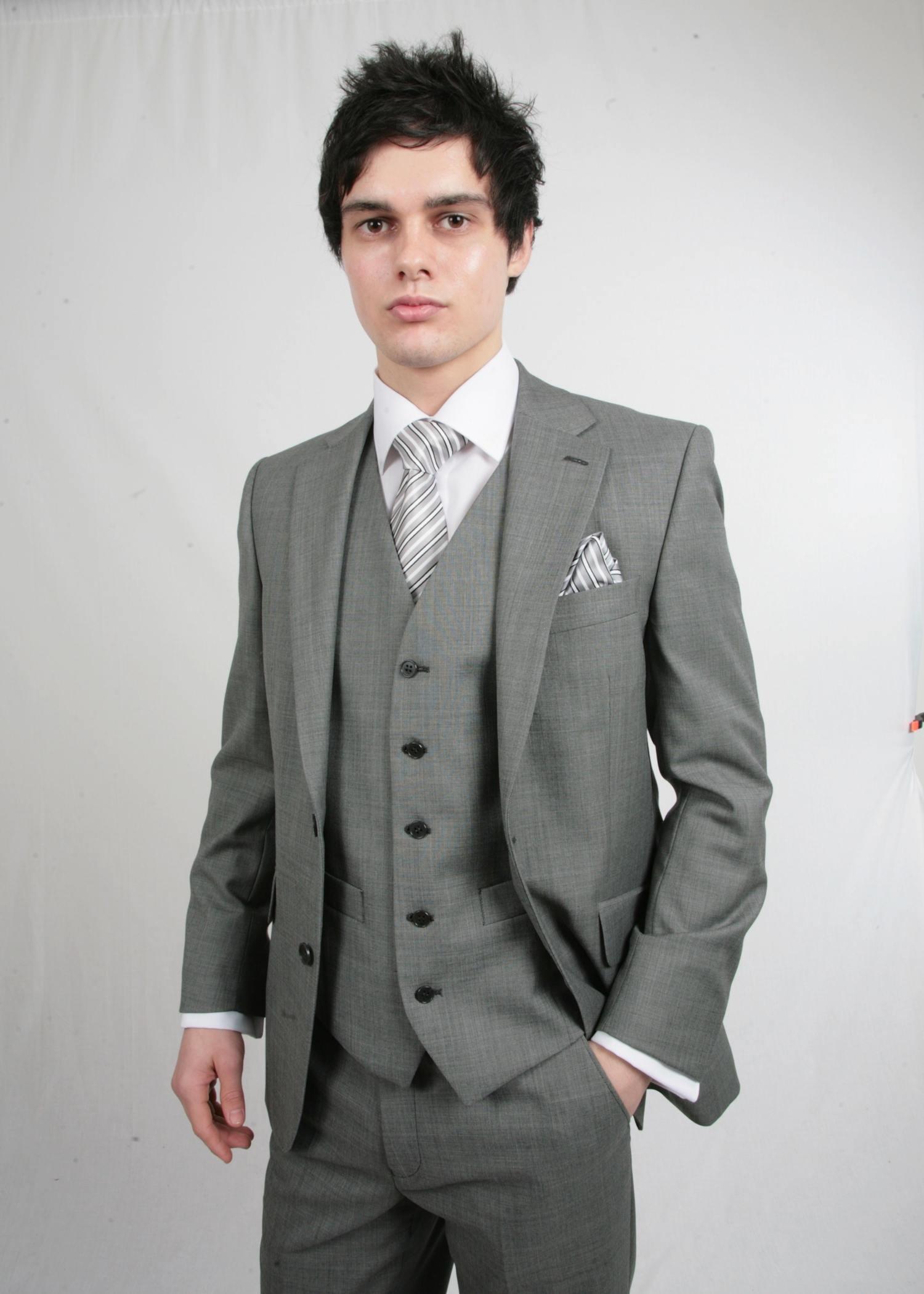 Silver Grey Scott 3 Piece Suit Hire Tom Murphy S Formal