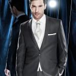 Black Silk Mix Plain Suit