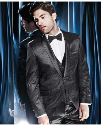 Shawl Collar Silk patterned Suit