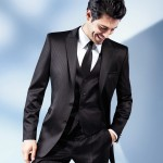 Brown Three-Piece Two Button Suit