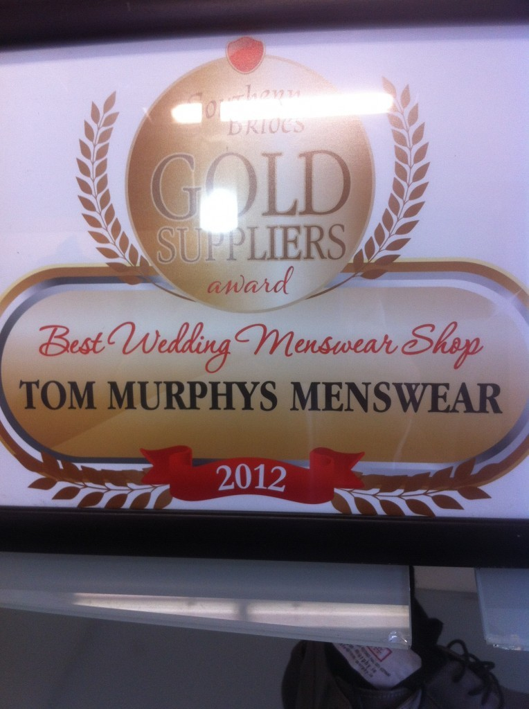 Image of Tom Murphy Menswear suit supplier award