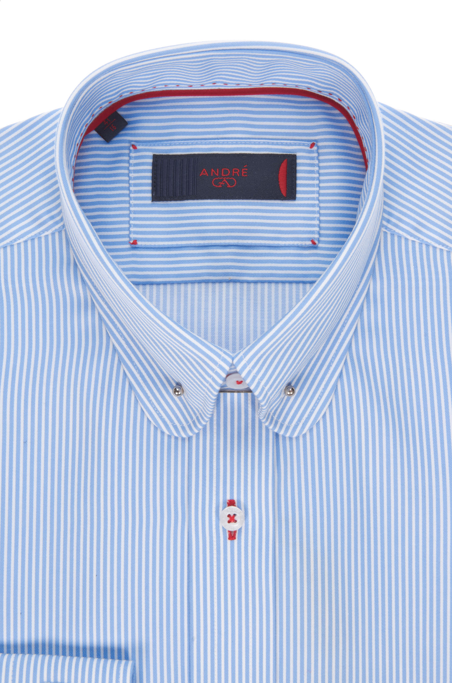 A13 Pin Collar Blue Tailored Fit