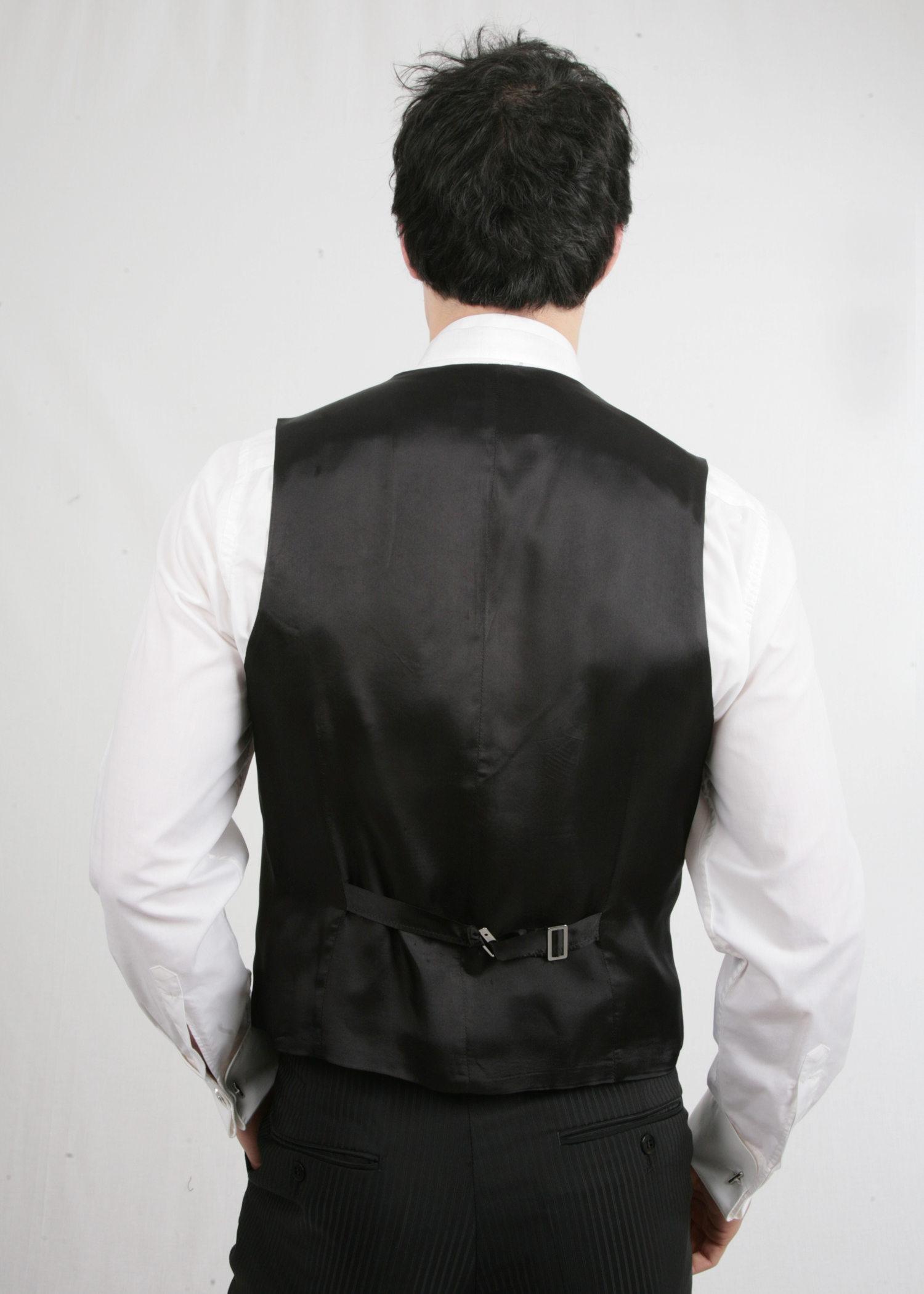 Black 3 piece Wilvorst Pinstripe Suit