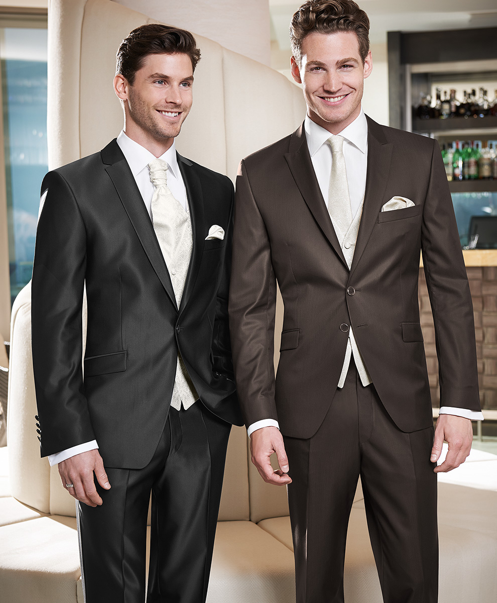 Black Gloss Filamentuni One Button Suit