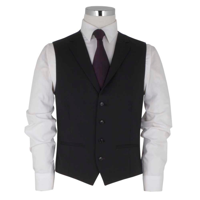 Black Notch Lapel Waistcoat