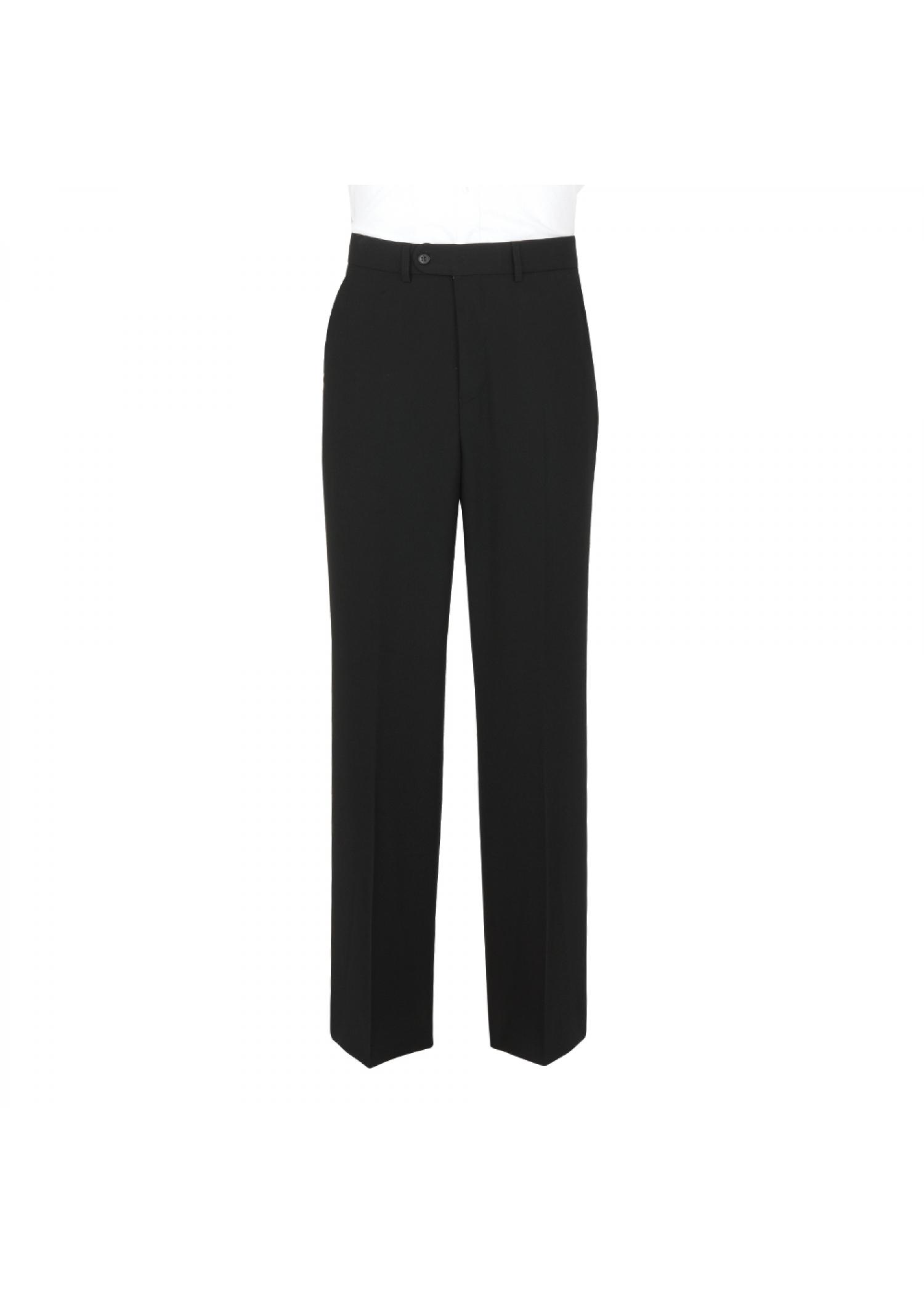 Wool Mix Black Trousers
