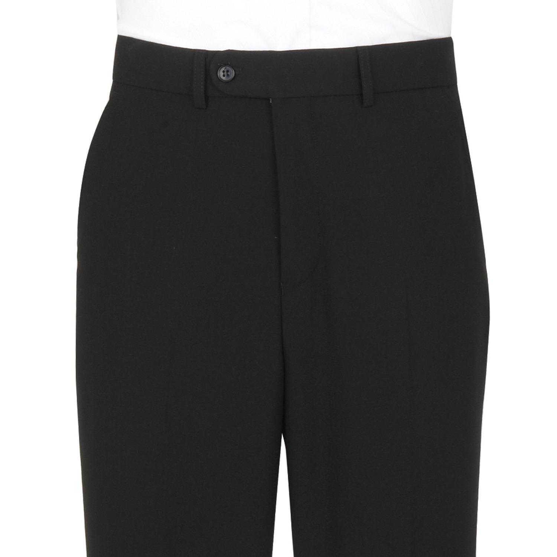 Black Plain Wool Mix with FREE SKINNY BLACK TIE