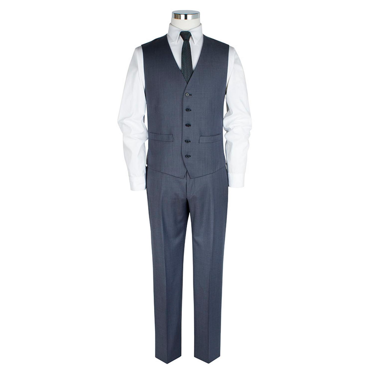 Blue Sharkskin 3 Piece Slim