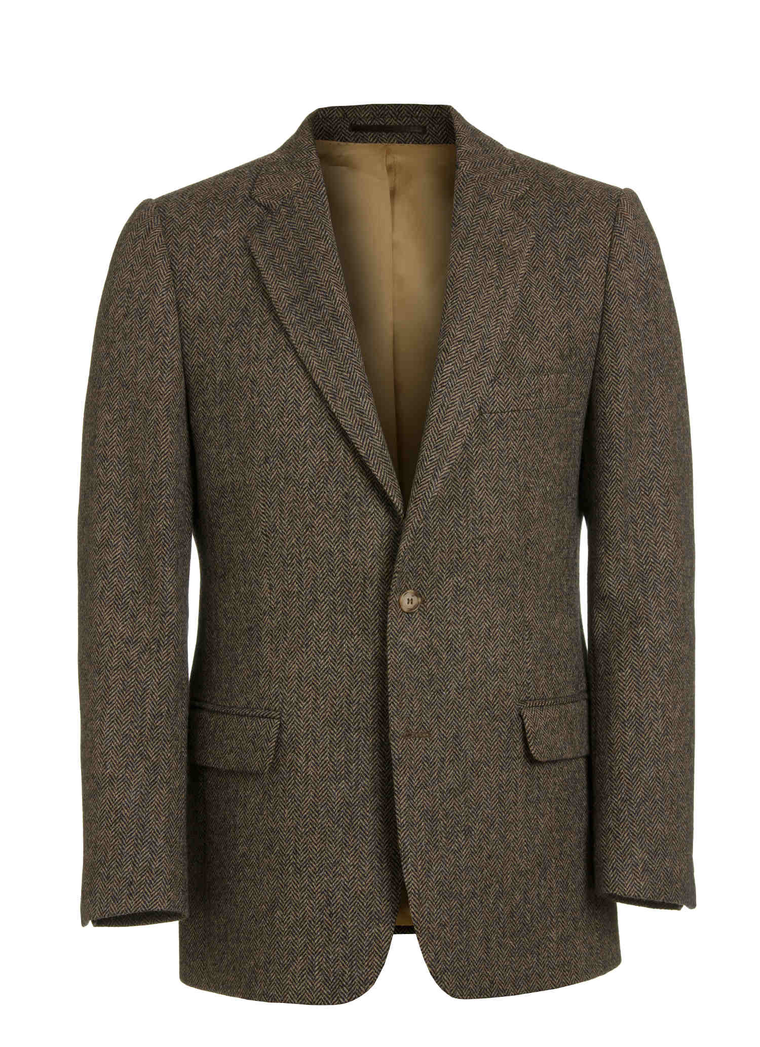 Brown Tweed with Gold lining