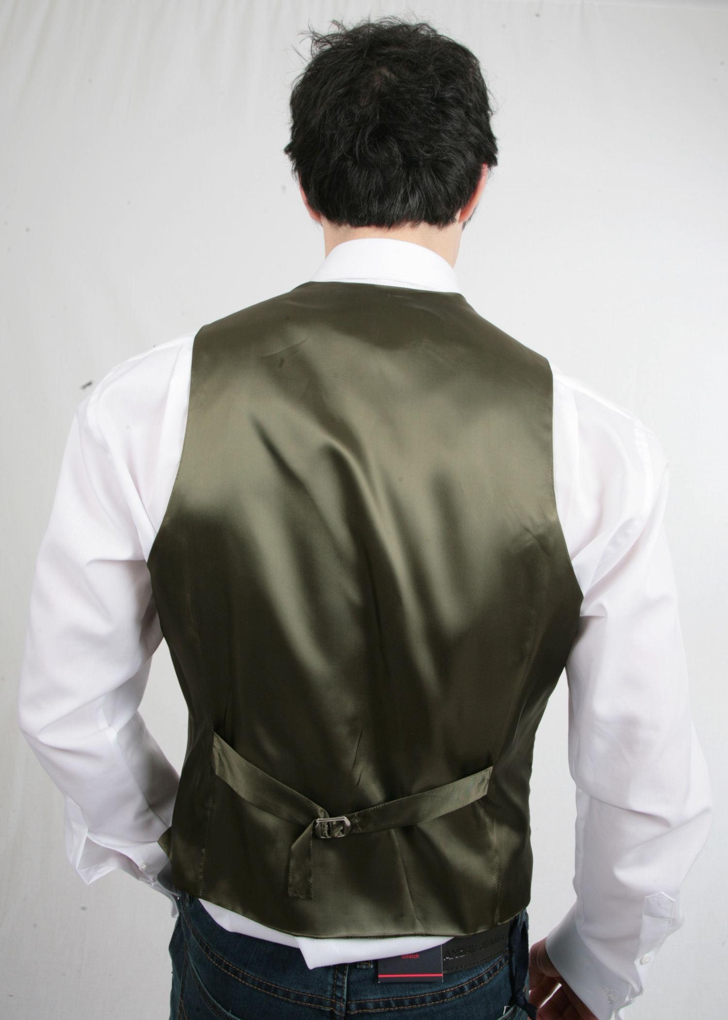 Green Cotton Waistcoat