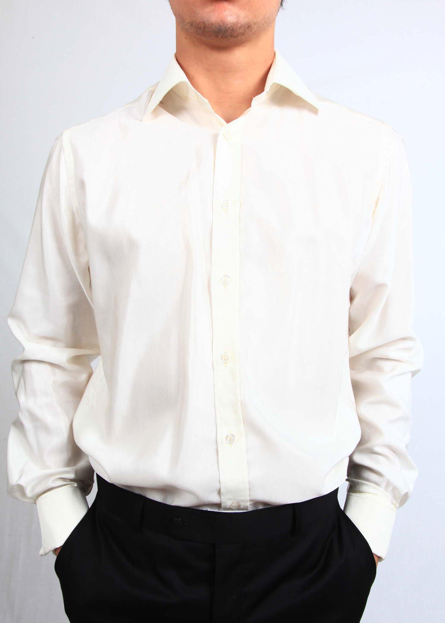 Ivory Silk Blend Shirt