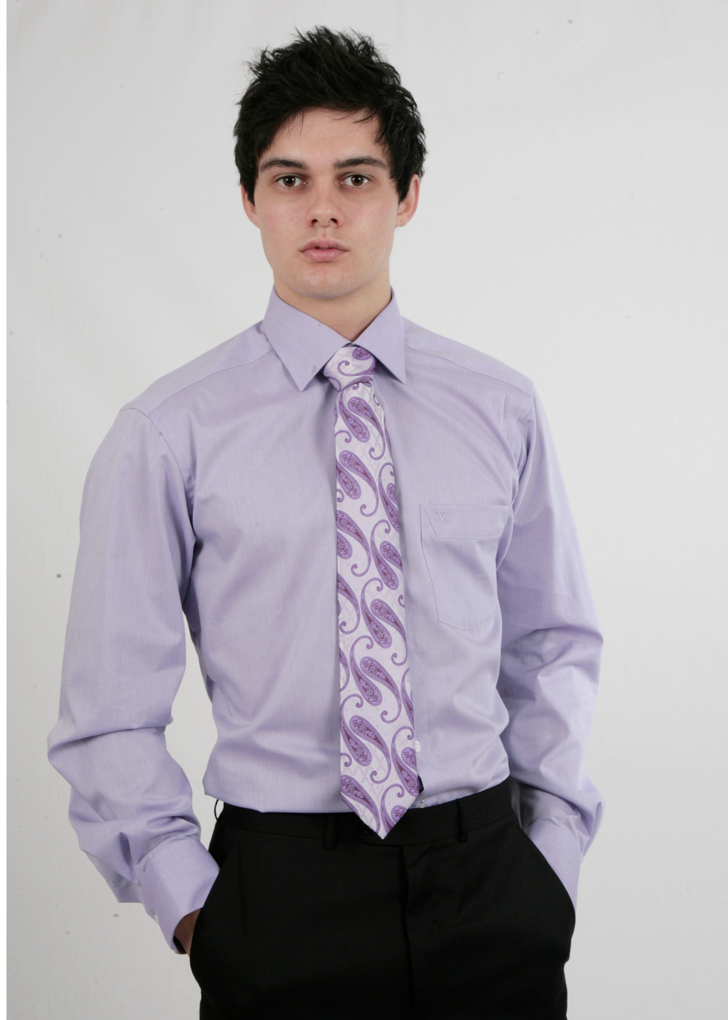 Lilac Slim Non Iron Shirt